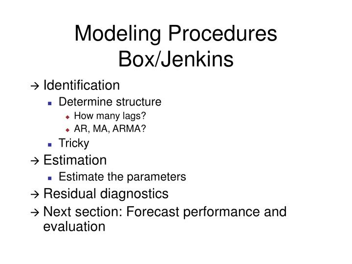Modeling Procedures
