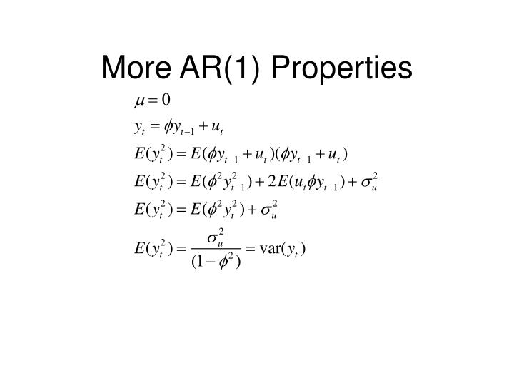 More AR(1) Properties