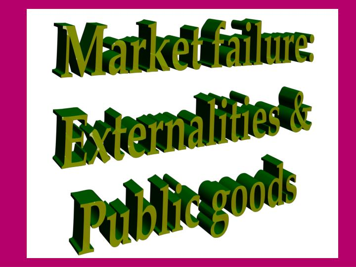 Market failure:
