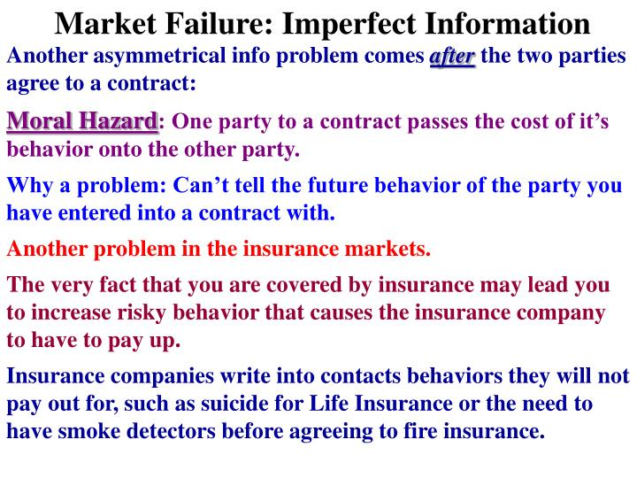 Market Failure: Imperfect Information