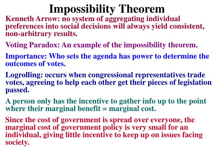 Impossibility Theorem