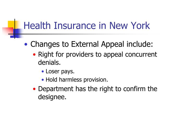 Health Insurance in New York