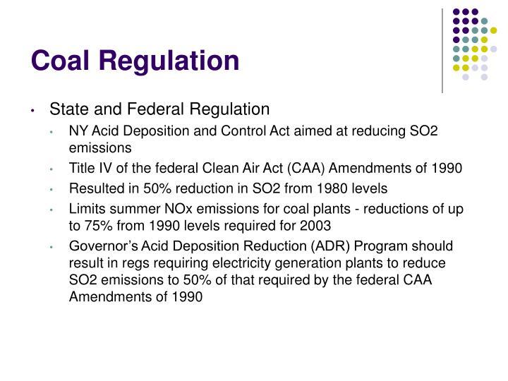 Coal Regulation