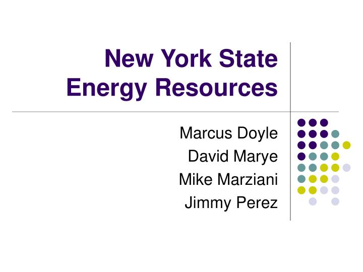 New york state energy resources