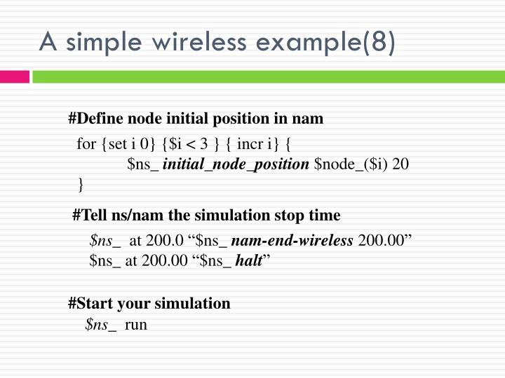 #Define node initial position in nam