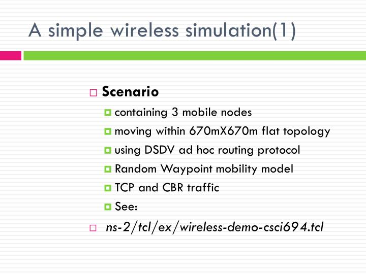 A simple wireless simulation(1)