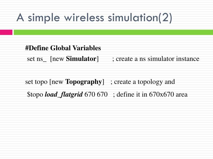 A simple wireless simulation(2)