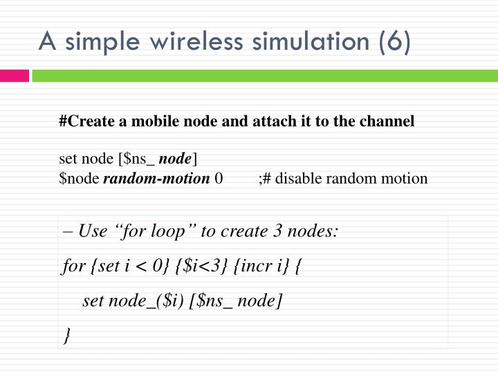 A simple wireless simulation (6)