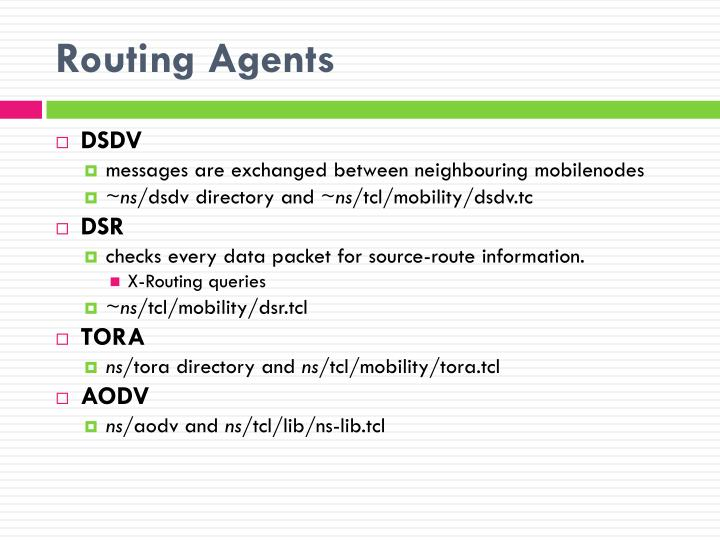 Routing Agents