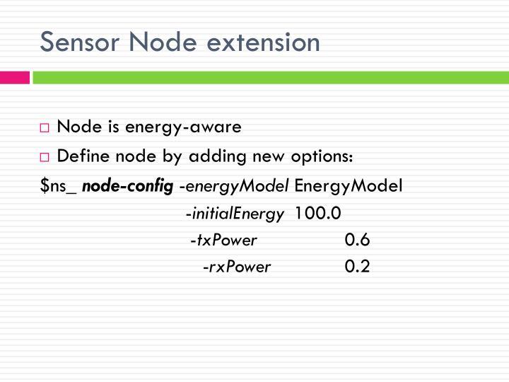 Sensor Node extension
