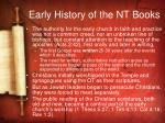 early history of the nt books