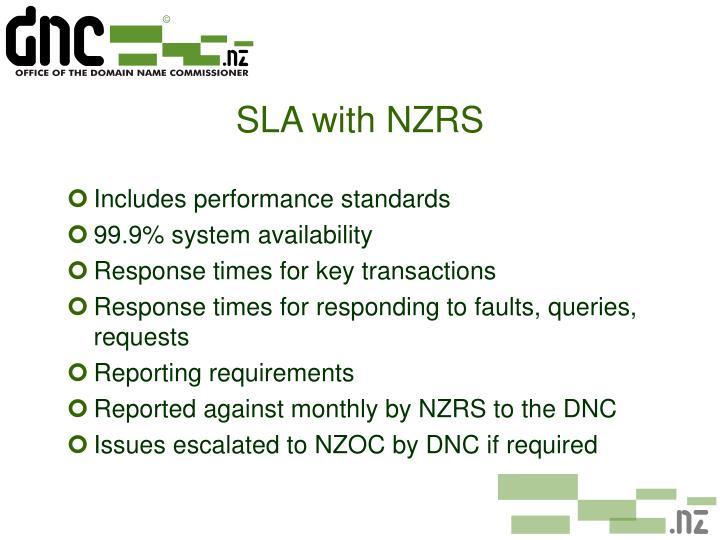 SLA with NZRS