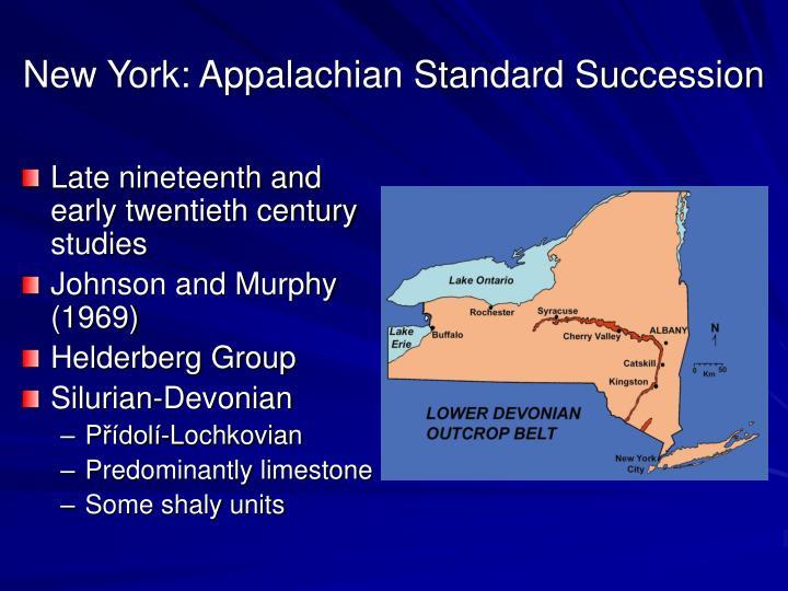 New York: Appalachian Standard Succession