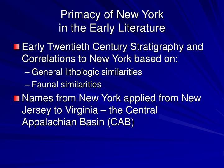 Primacy of New York