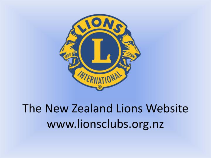 The new zealand lions website www lionsclubs org nz