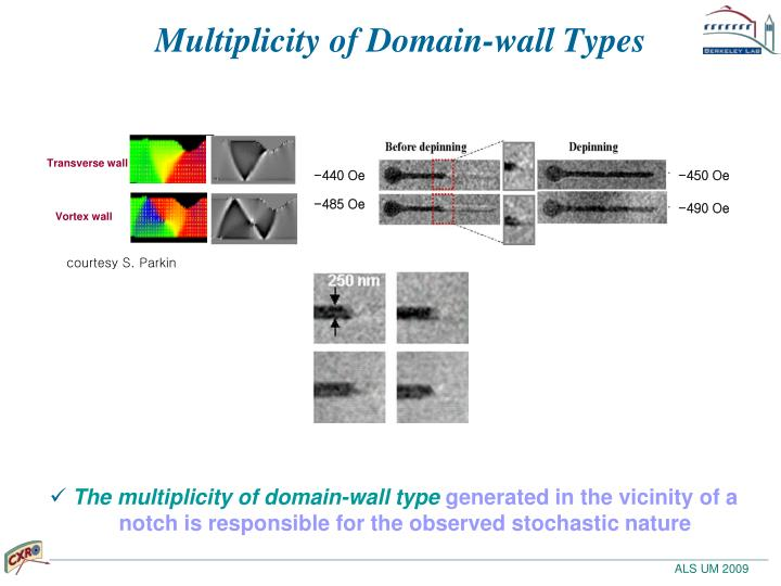 Multiplicity of Domain-wall Types