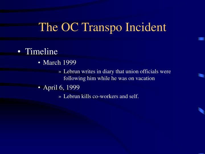 The oc transpo incident1
