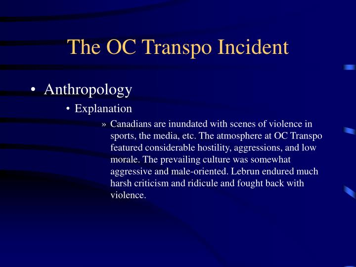 The OC Transpo Incident