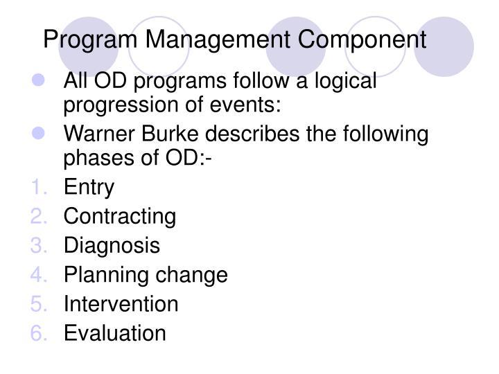 Program Management Component
