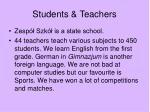 students teachers