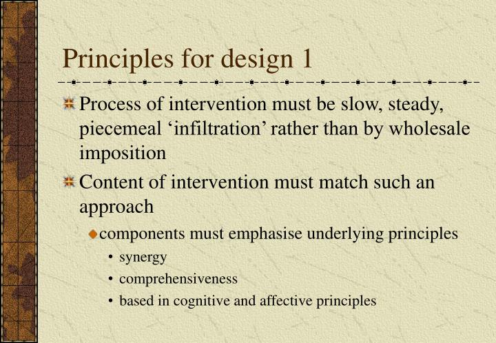 Principles for design 1