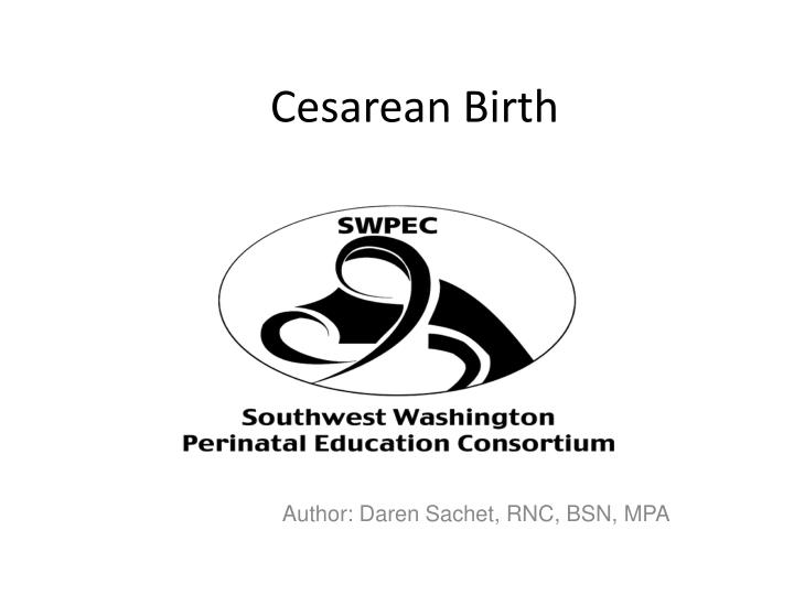 Cesarean birth