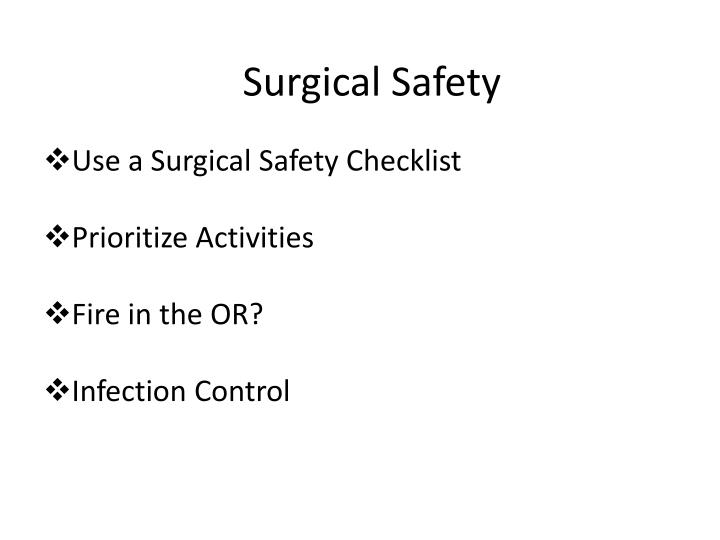 Surgical Safety