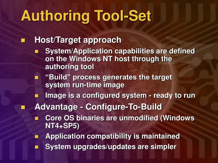 Authoring Tool-Set