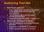 authoring tool set