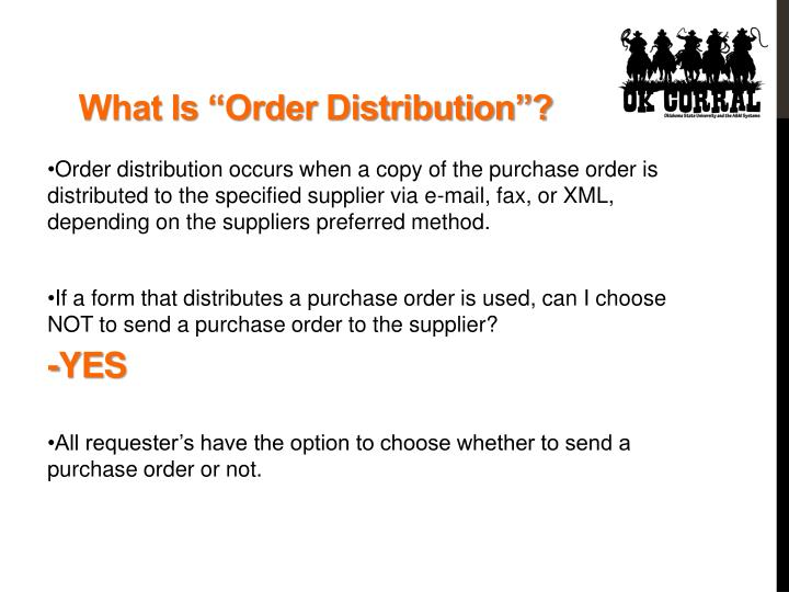 "What Is ""Order Distribution""?"