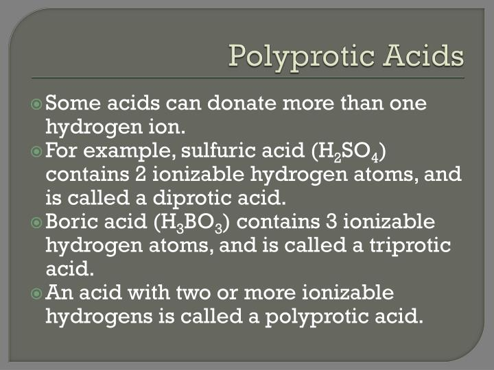 Polyprotic