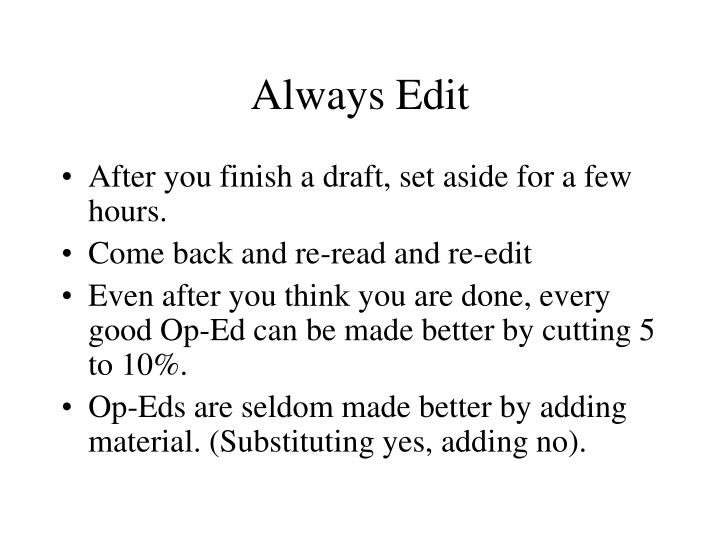 Always Edit