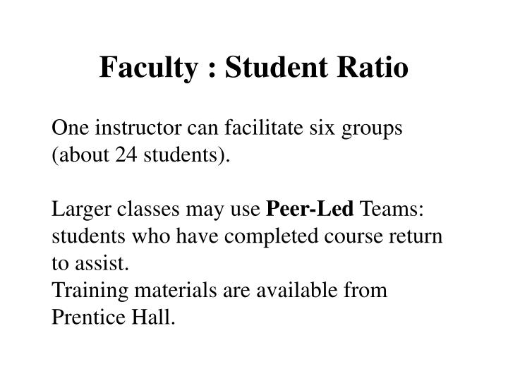 Faculty : Student Ratio
