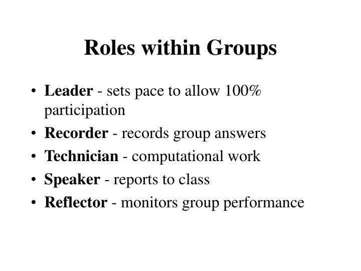 Roles within groups