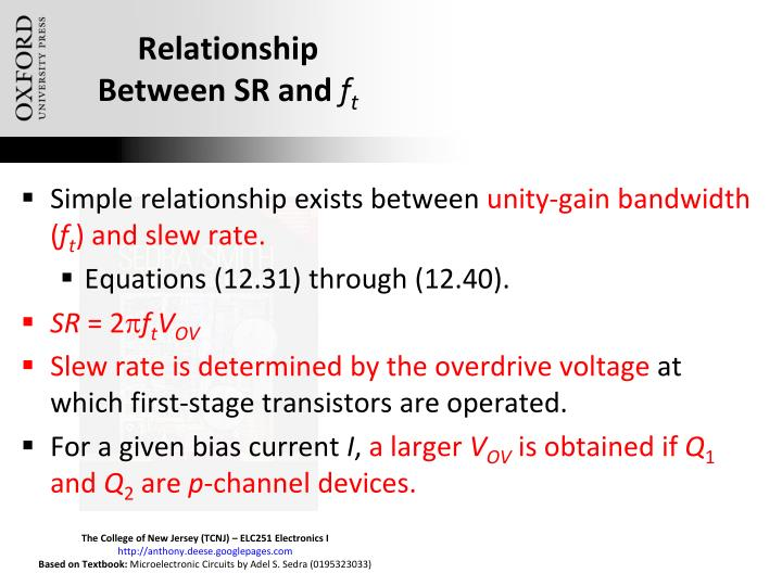 Relationship Between SR and