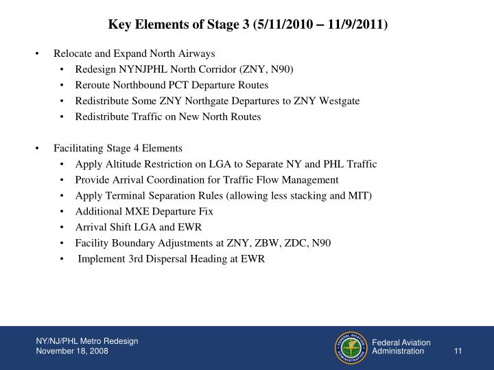 Key Elements of Stage 3 (5/11/2010