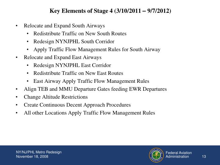 Key Elements of Stage 4 (3/10/2011