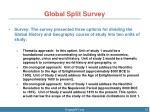 global split survey