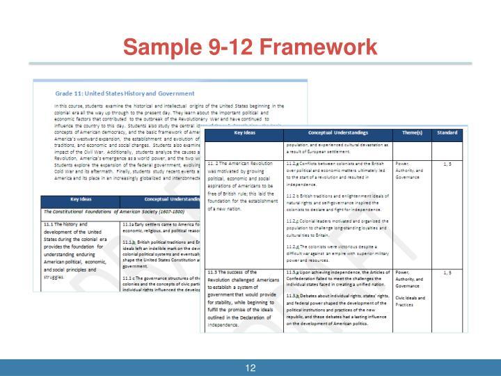 Sample 9-12 Framework