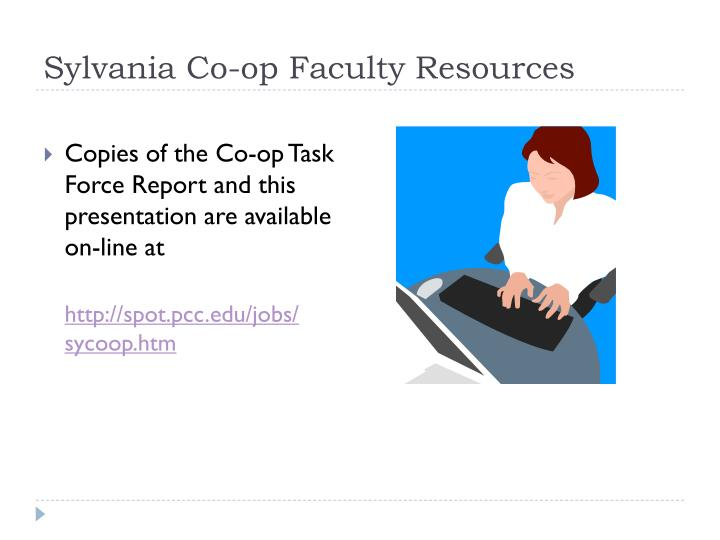 Sylvania Co-op Faculty Resources