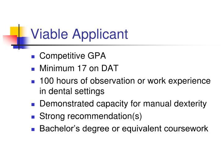 Viable Applicant