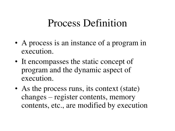 Process Definition