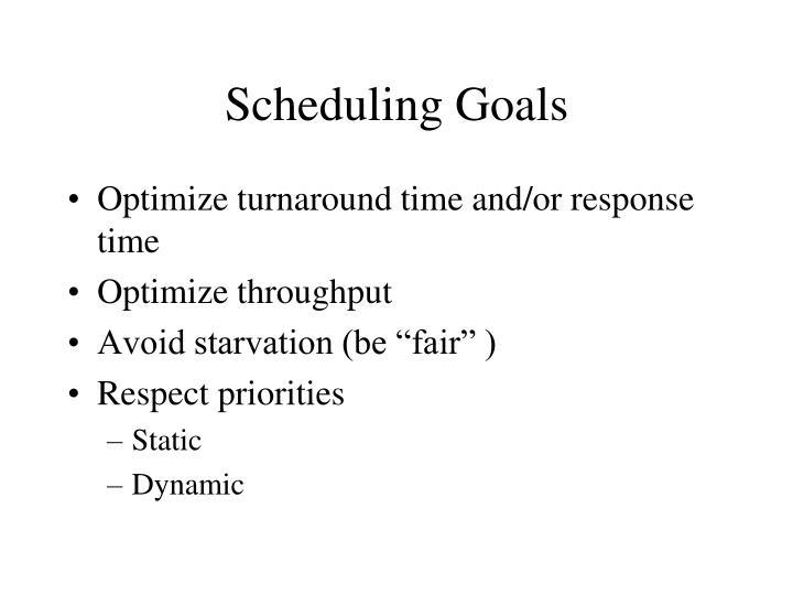Scheduling Goals
