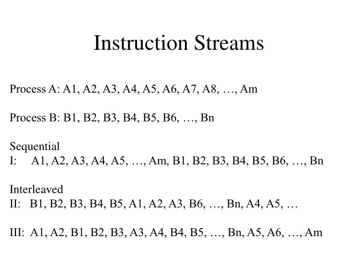 Instruction Streams