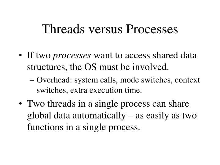 Threads versus Processes