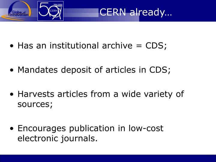 CERN already…