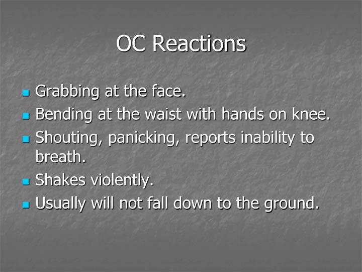 OC Reactions