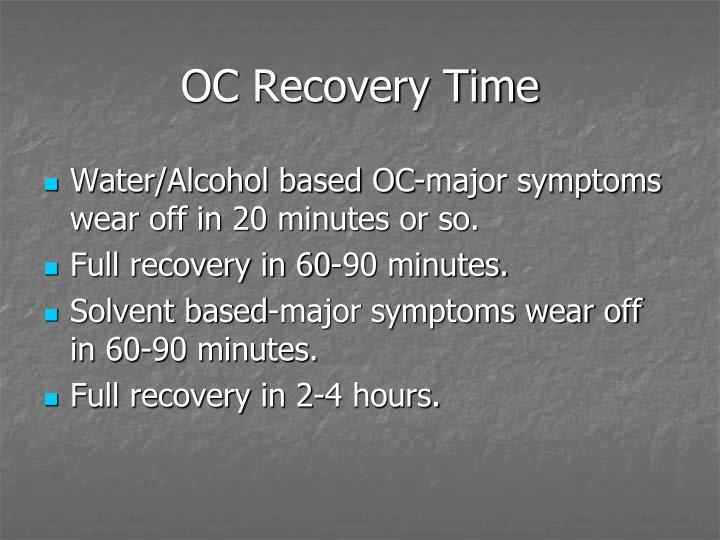 OC Recovery Time