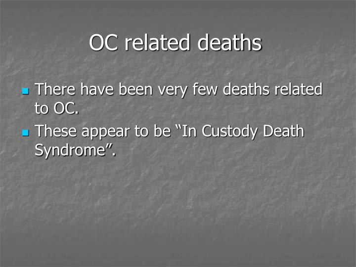 OC related deaths