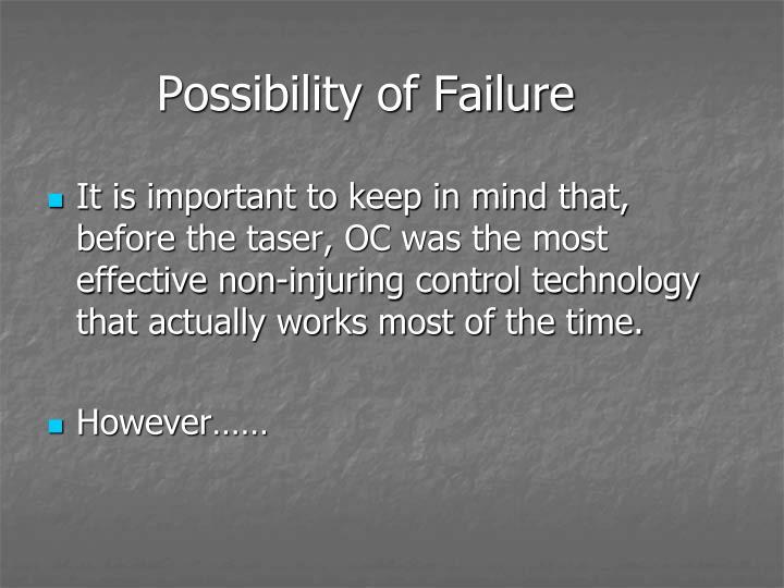 Possibility of Failure
